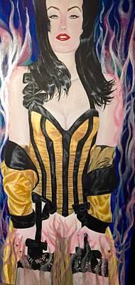 Dita Von Teese Painting - Consumed By Externalities  by Tara Rodas