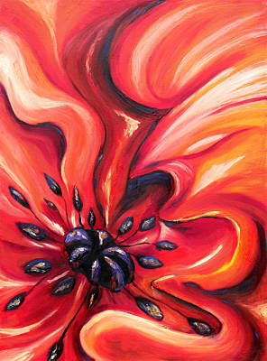 Art Print featuring the painting Consuming Fire by Meaghan Troup