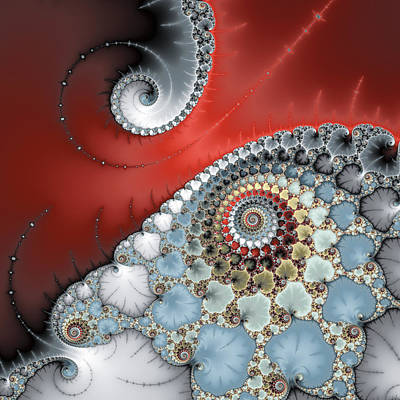 Catch Of The Day - Contact - Fractal spiral art square format by Matthias Hauser