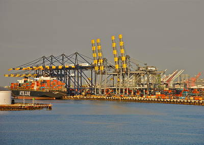 Photograph - Container Ship Loading In San Pedro by Kirsten Giving