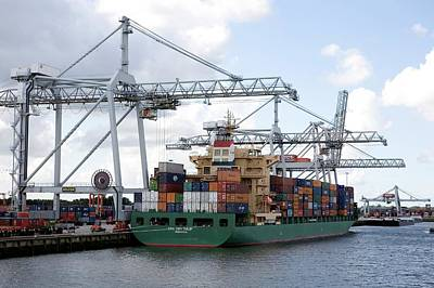 Rotterdam Photograph - Container Transport by Dirk Wiersma
