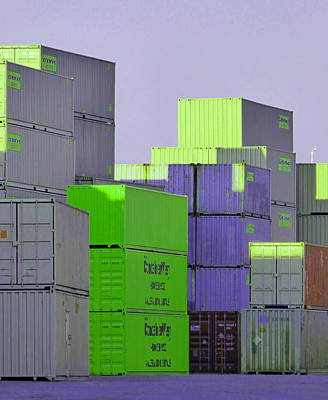 Photograph - Containers 13 by Laurie Tsemak