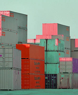Photograph - Containers 14 by Laurie Tsemak