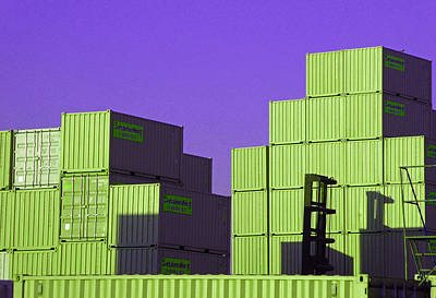 Containers 18 Art Print by Laurie Tsemak