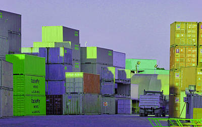 Photograph - Containers 2 by Laurie Tsemak