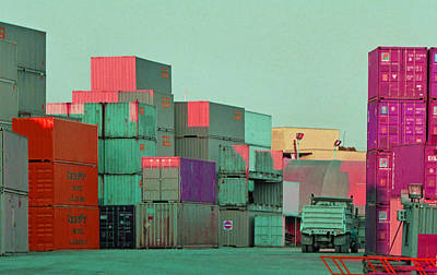 Photograph - Containers 3 by Laurie Tsemak