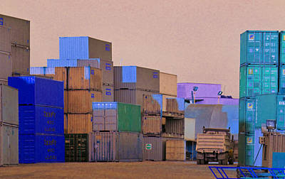 Photograph - Containers 5 by Laurie Tsemak