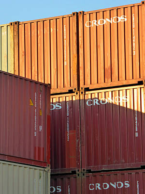 Photograph - Containers 6 by Laurie Tsemak