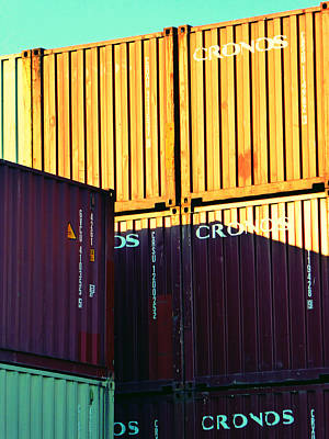 Photograph - Containers 7 by Laurie Tsemak