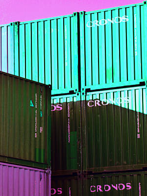 Photograph - Containers 8 by Laurie Tsemak