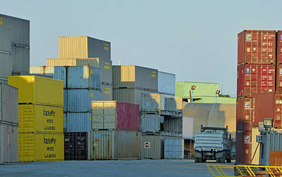 Photograph - Containers by Laurie Tsemak