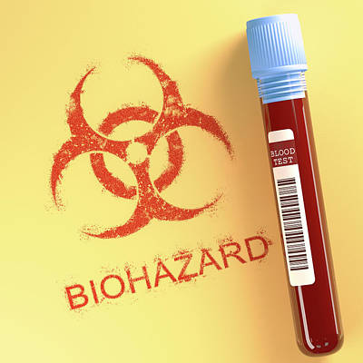 Healthcare And Medicine Photograph - Contaminated Blood by Ktsdesign