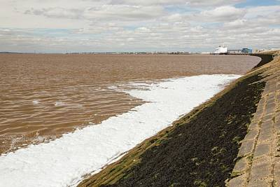 Emptying Photograph - Contaminated Water Entering The Humber by Ashley Cooper