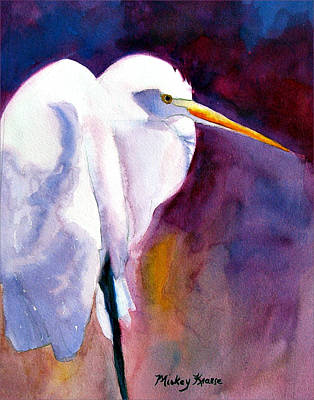 Painting - Contemplating Bird by Mickey Krause