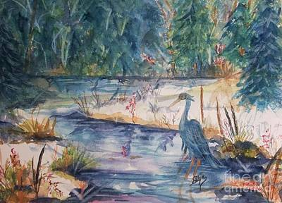 Wading River Painting - Contemplating Lunch by Ellen Levinson