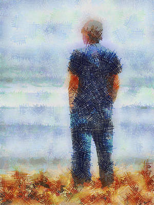Fuzzy Digital Art - Contemplating The Future  by Steve Taylor