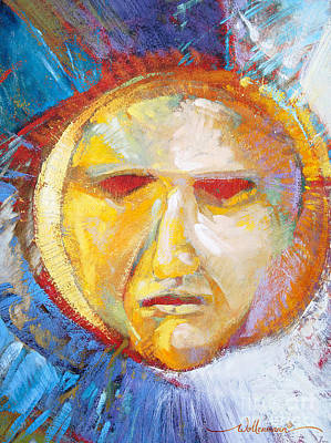 Painting - Contemplating The Sun by Randy Wollenmann