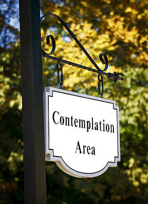 Photograph - Contemplation Area  by Phil Cardamone
