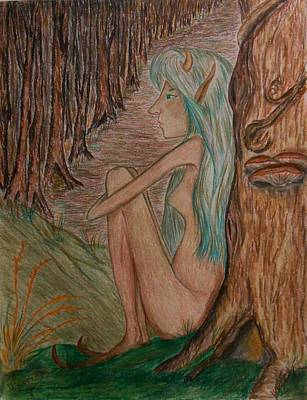 Drawing - Contemplation by Carrie Viscome Skinner