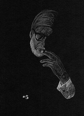 Drawing - Contemplation by Ekta Gupta
