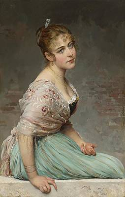Eugen Von Blaas Painting - Contemplation by Celestial Images