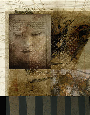 Female Mixed Media - Contemplation In Sepia by Ann Powell