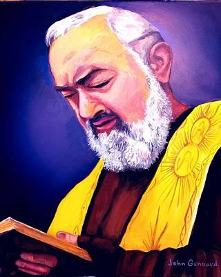 Padre Pio Painting - Contemplation by John Genuard