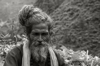India Babas Photograph - Contemplation... by Rohit Chawla