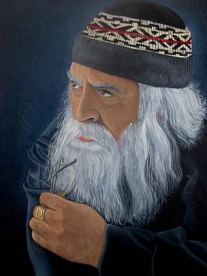 Wise Old Man Painting - Contemplation by Surina Nel
