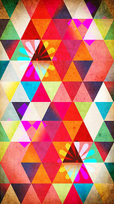 Geometric Art Painting - Contemporary 2 by Mark Ashkenazi