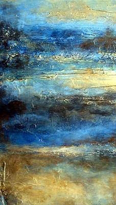 Textured Mixed Media - Contemporary Abstract Fluid Painting Series Sea And Sky 445 by Holly Anderson