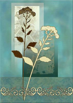 Gina Femrite Wall Art - Painting - contemporary art Desert Grass by Regina Femrite
