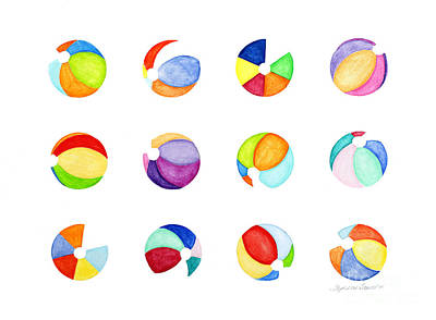 Painting - Contemporary Beach Balls by Stephanie Troxell
