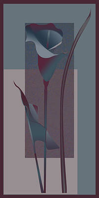Gina Femrite Wall Art - Painting - contemporary calla Lily  by Regina Femrite