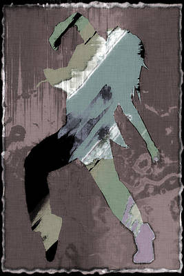 Contemporary Dancer Abstract Art Print by David G Paul