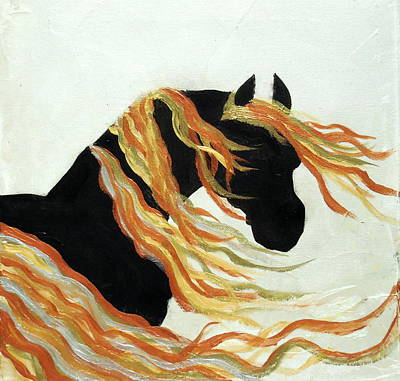 Contemporary Horse  Print by Holly Anderson