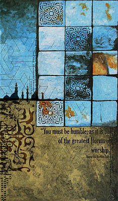 Arabic Art Painting - Contemporary Islamic Art 062 by Corporate Art Task Force