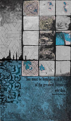 Arabic Art Painting - Contemporary Islamic Art 62 C by Corporate Art Task Force