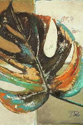Rust Painting - Contemporary Leaves II by Patricia Pinto