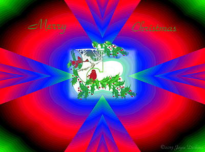 Photograph - Contemporary Neon Merry Christmas by Joyce Dickens