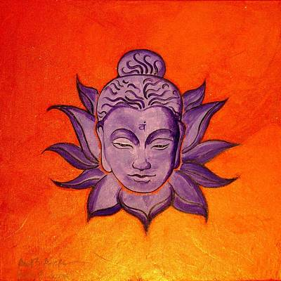 Large Buddha Painting - Contemporary Original Orange Chakra Sacral Swadhisthana by Holly Anderson and Pato Aguilar