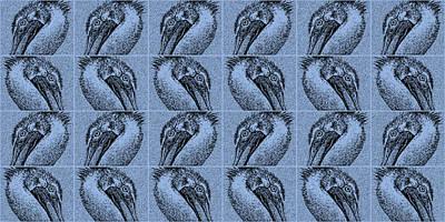 Pelican Digital Art - Contemporary Pelicans IIi by Betsy Knapp