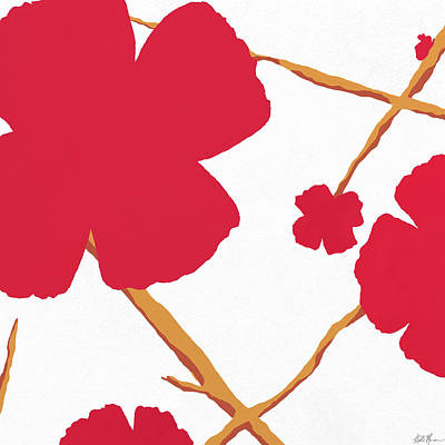 Contemporary Poppy Art Print by Kristie Mercer