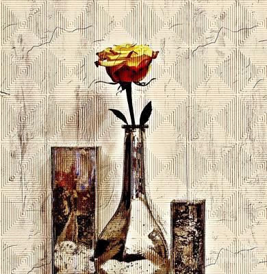 Wrap Digital Art - Contemporary Rose Ll by Marsha Heiken