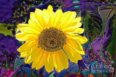 Photograph - Contemporary Sunflower by Luther Fine Art