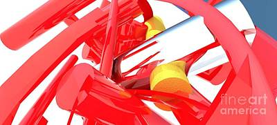 Abstract Digital Painting - Contemporary Vector Art 1 by Corporate Art Task Force