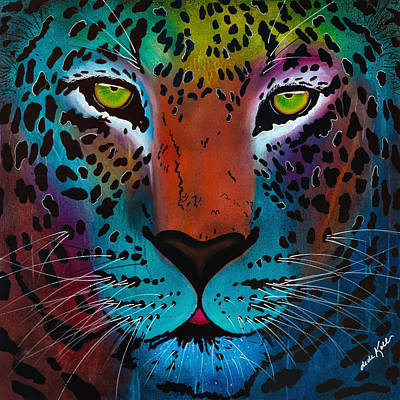 Painting - Content Leopard by Dede Koll
