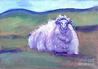 Cider Mill Painting - Cider Mill Ewe  by Sylvina Rollins