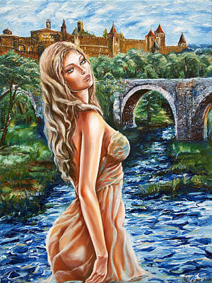 Contessa De Carcassonne Art Print