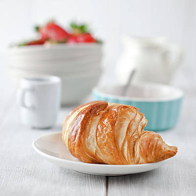 Photograph - Continental Breakfast With Coffee And by Ola p